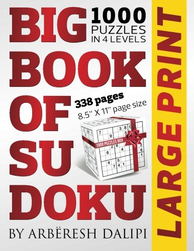 9781514826300: Big Book of Sudoku: 1000 Puzzles in 4 Levels (338 pages, Large Print, 8.5