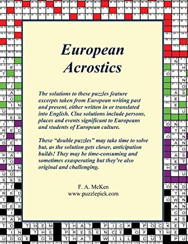 European Acrostics: F. A. McKen
