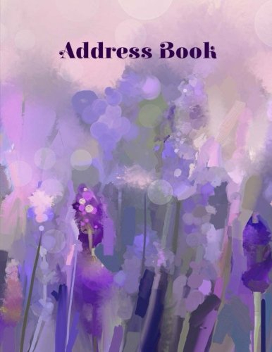9781514859049: Address Book (Extra Large Paperpack Address Books-Watercolor Lavender Design) (Volume 87)