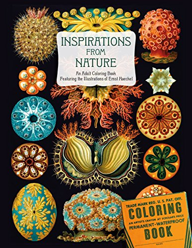 9781514900062: Inspirations from Nature: An Adult Coloring Book Featuring the Illustrations of Ernst Haeckel