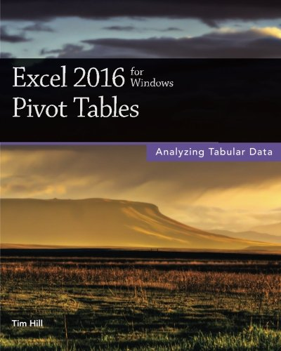 9781515010739: Excel 2016 for Windows Pivot Tables