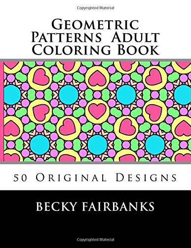 9781515108955: Geometric Patterns Adult Coloring Book