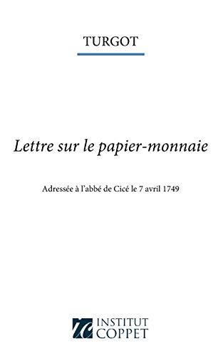 9781515155348: Lettre sur le papier-monnaie (French Edition)