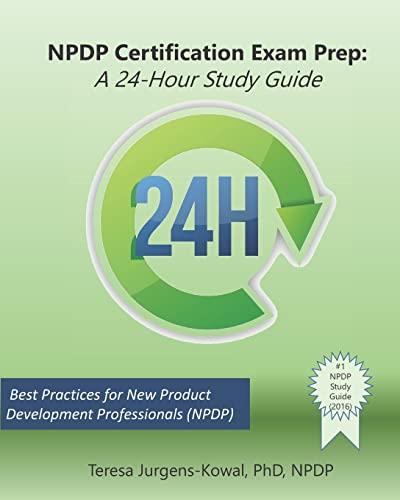 9781515191346: NPDP Certification Exam Prep: A 24-Hour Study Guide