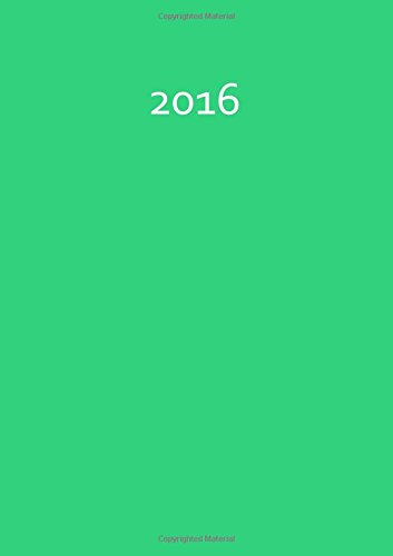 9781515198376: Kalender 2016 - A5 - Mint Green: DIN A5, 1 Woche pro Doppelseite (German Edition)