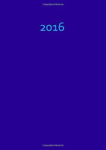 9781515198864: Kalender 2016 - A5 - Blaubeere: Blue - DIN A5, 1 Woche auf 2 Seiten, Platz für Adressen und Notizen (German Edition)