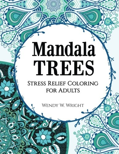 9781515229018: Mandala Trees: Stress Relief Coloring for Adults