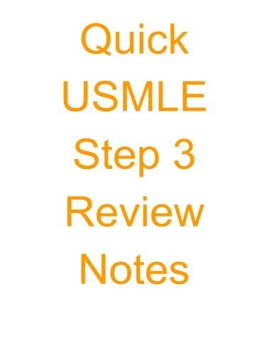 9781515234739: Quick USMLE Step 3 Review Notes (Quick USMLE Review Notes)