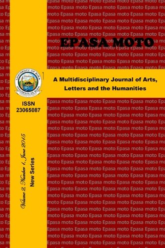 9781515252665: Epasa Moto: A Multidisciplinary Journal of Arts, Letters and the Humanities