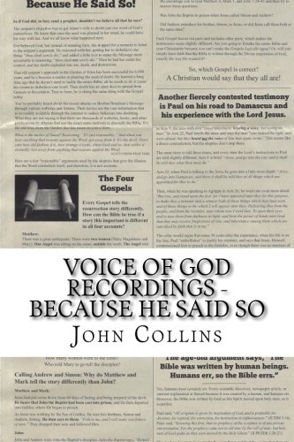 9781515279075: Voice of God Recordings - BECAUSE HE SAID SO