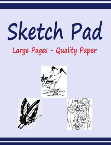 9781515284970: Sketch Pad: Sketch Pad with 120 pages of High Quality 60 lb paper. Large 8.5 x 11 inch. Not Spiral Bound.
