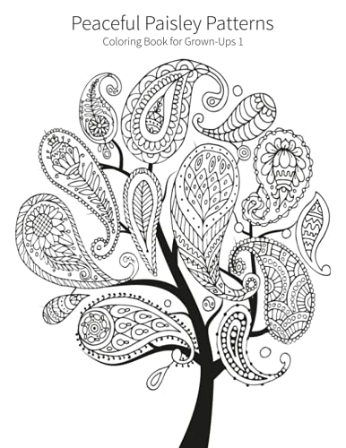 9781515320531: Peaceful Paisley Patterns 1: Coloring Book for Grown-Ups (Volume 1)