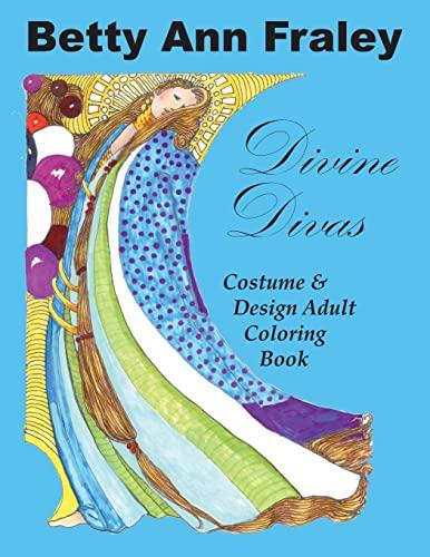 9781515361688: Divine Divas: Costume & Design Adult Coloring Book