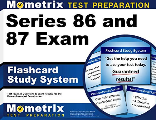 9781516700295: Series 86 and 87 Exam Flashcard Study System: Series 86 and 87 Test Practice Questions & Review for the Research Analyst Examination (Cards)