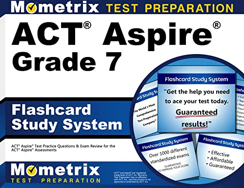 9781516701582: ACT Aspire Grade 7 Flashcard Study System: ACT Aspire Test Practice Questions & Exam Review for the ACT Aspire Assessments (Cards)