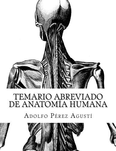 9781516903597: Temario abreviado de ANATOMÍA HUMANA (Cursos formativos) (Volume 17) (Spanish Edition)
