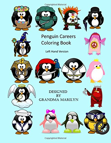 9781516912025: Penguin Careers Coloring Book: Left Hand Version