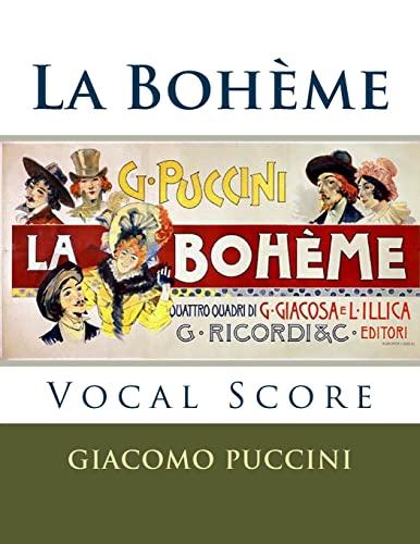 La Boheme - vocal score (Italian and English): Ricordi edition: Puccini, Giacomo