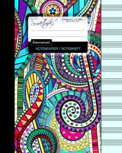 9781516984015: Notenpapier / Notenheft (Karneval): Geschenke für Musiker / Notenblock [ 100 Seiten * groß * 20,3 x 25,4 cm * Taschenbuch ] (Schreibwaren - Musik)