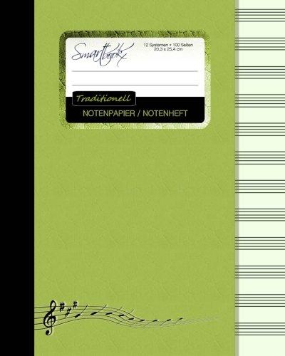 9781516984077: Notenpapier / Notenheft (Traditionell): Geschenke für Musiker / Notenblock [ 100 Seiten * groß * 20,3 x 25,4 cm * Taschenbuch ] (Schreibwaren - Musik)