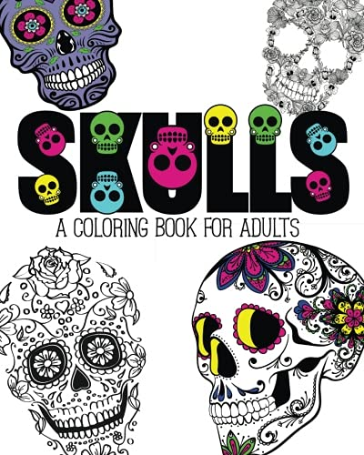 9781517006082: Skulls: An Adult Coloring Book