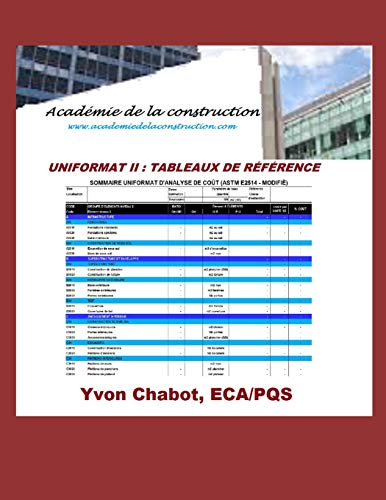 9781517011079: UNIFORMAT II - Tableau de reference (French Edition)