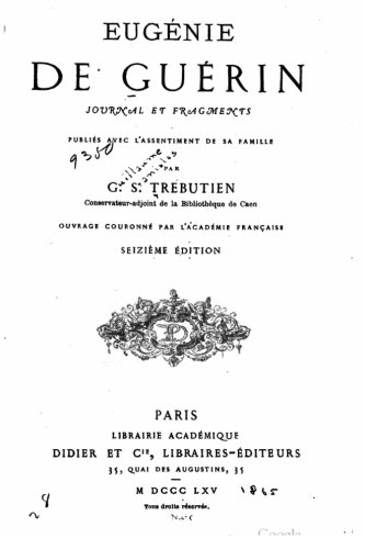 9781517013011: Journal et fragments, publiés avec l'assentiment de sa famille