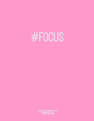 9781517018603: Notebook for Cornell Notes, 120 Numbered Pages, #FOCUS, Pink Cover: For Taking Cornell Notes, Personal Index, 8.5