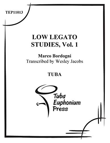 Low Legato Etudes for Tuba (Volume 1): Jacobs, Wesley