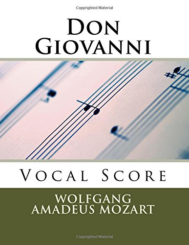 Don Giovanni - vocal score (Italian and English): Schirmer edition: Wolfgang Amadeus Mozart