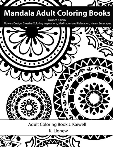 9781517036874 Colorama Adult Coloring Book Balance Relax Flowers Design Creative