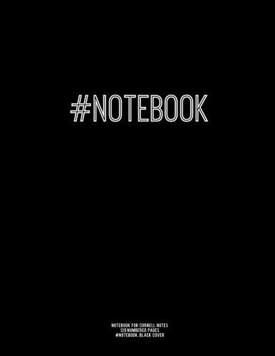 9781517037550: Notebook for Cornell Notes, 120 Numbered Pages, #NOTEBOOK, Black Cover: For Taking Cornell Notes, Personal Index, 8.5