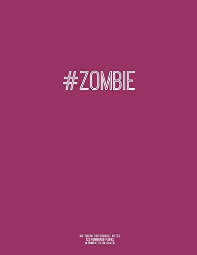 9781517053215: Notebook for Cornell Notes, 120 Numbered Pages, #ZOMBIE, Plum Cover: For Taking Cornell Notes, Personal Index, 8.5