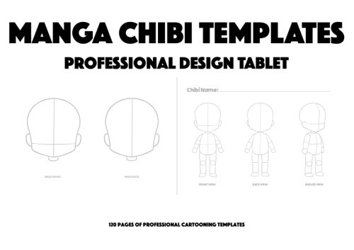 9781517059644: Manga Chibi Templates: Professional Design Tablet - 120 Pages Of Professional Chibi Design Templates