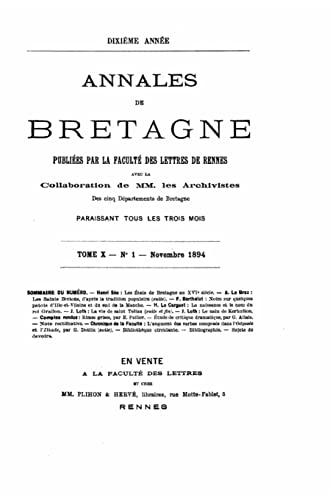 9781517070663: Annales de Bretagne - Tome X (1894)