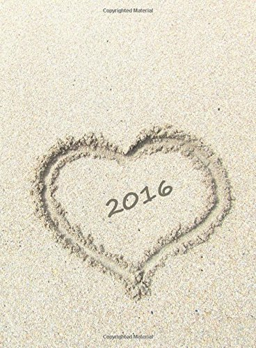 9781517088118: MY BIG FAT CALENDAR 2016 - HEART IN THE SAND (Great Britain): 1 day per DIN A4 page, lined