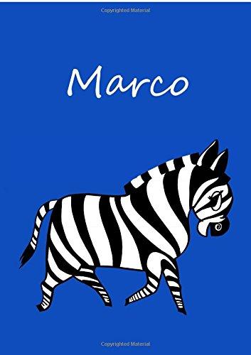 9781517141417: Malbuch / Notizbuch / Tagebuch - Marco: DIN A4 - blanko (German Edition)