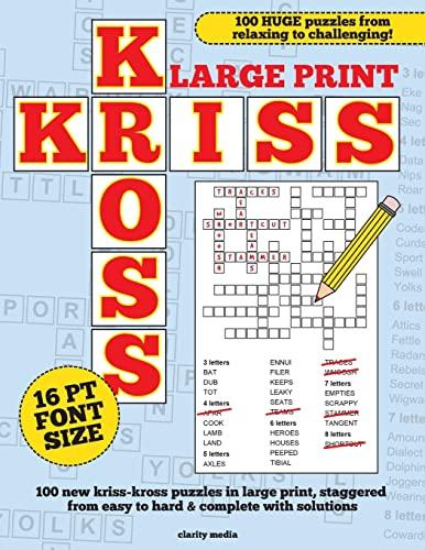 Large Print Kriss Kross Puzzles: Media, Clarity