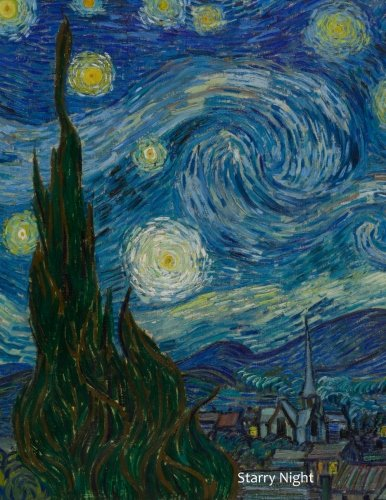 9781517163235: Starry Night: By Vincent Van Gogh: A Large (8.5