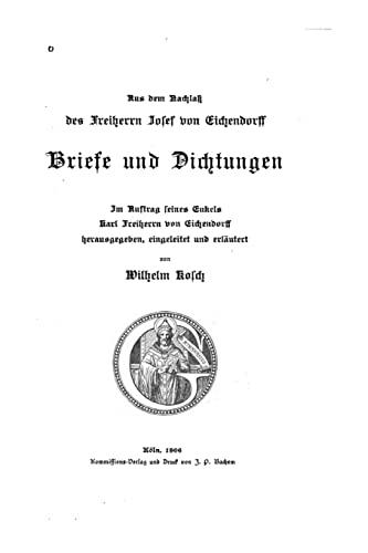 9781517179069: Briefe und Dichtungen
