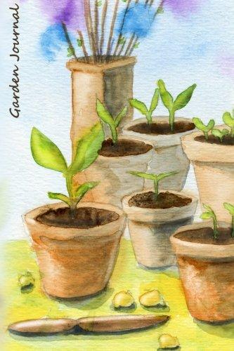 9781517207441: Garden Journal: Seedlings Watercolor Gardening Journal, Lined Journal, Diary Notebook 6 x 9, 180 Pages (Gardening Journals)