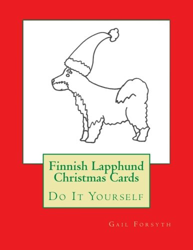 9781517224035: Finnish Lapphund Christmas Cards: Do It Yourself