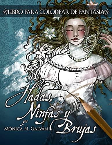 9781517235741: Hadas, Ninfas y Brujas - Libro para Colorear (Volume 1) (Spanish Edition)