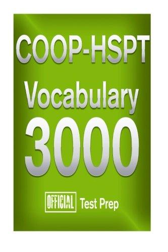 9781517313845: Official Test Prep COOP-HSPT Vocabulary 3000
