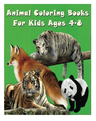 9781517324407: Animal Coloring Books For Kids Ages 4-8