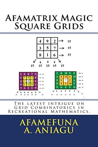 Afamatrix Magic Square Grids: The Latest Intrigue: Aniagu, Afamefuna a.