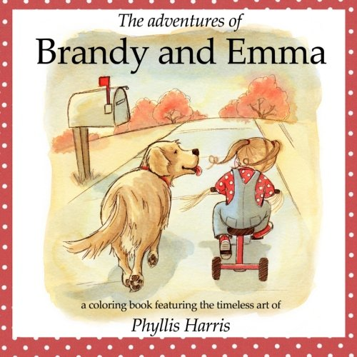 9781517370244: The Adventures of Brandy and Emma: A 2 in 1 Coloring and Story Book