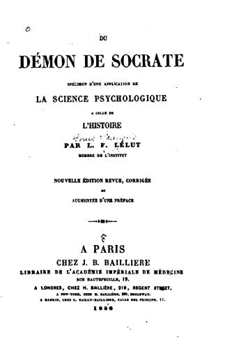 Du Demon de Socrate, Specimen D'Une Application: Lelut, L. F.