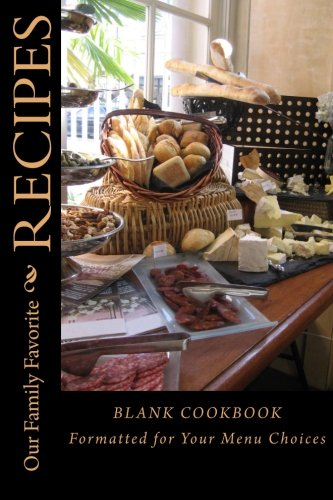 9781517483456 our family favorite recipes blank cookbook formatted