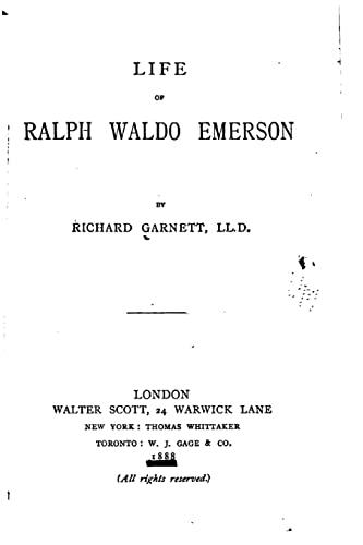 9781517535803: Life of Ralph Waldo Emerson